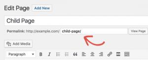 Xóa parent page trong đường dẫn Slug của WordPress permalink