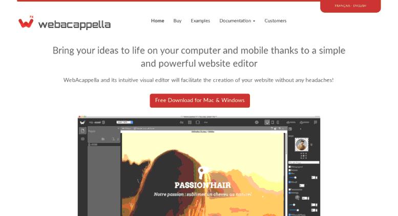 Phần mềm làm web WebAcappella