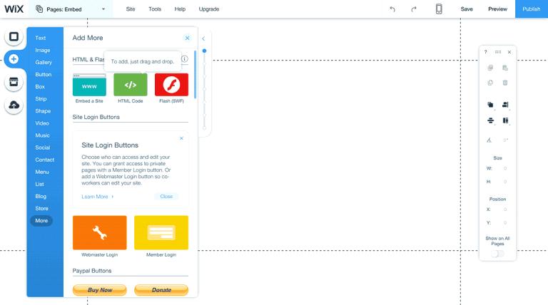 Tạo một trang web miễn phí đơn giản với wix