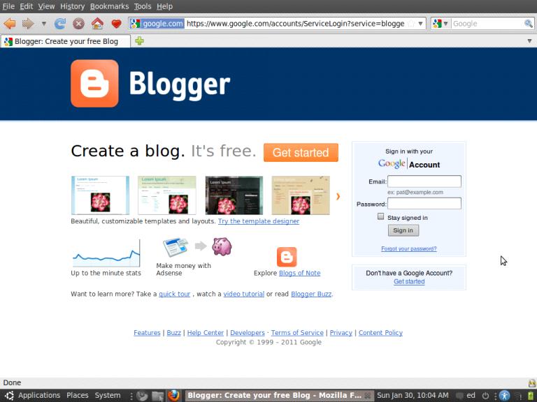 Cách tạo web miễn phí tren google bằng blogger