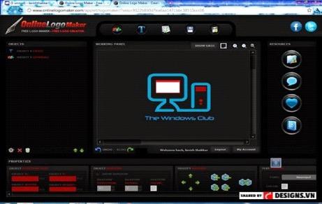 Thiết kế logo miễn phí trực tuyến không cần kỹ năng với Online Logo Maker