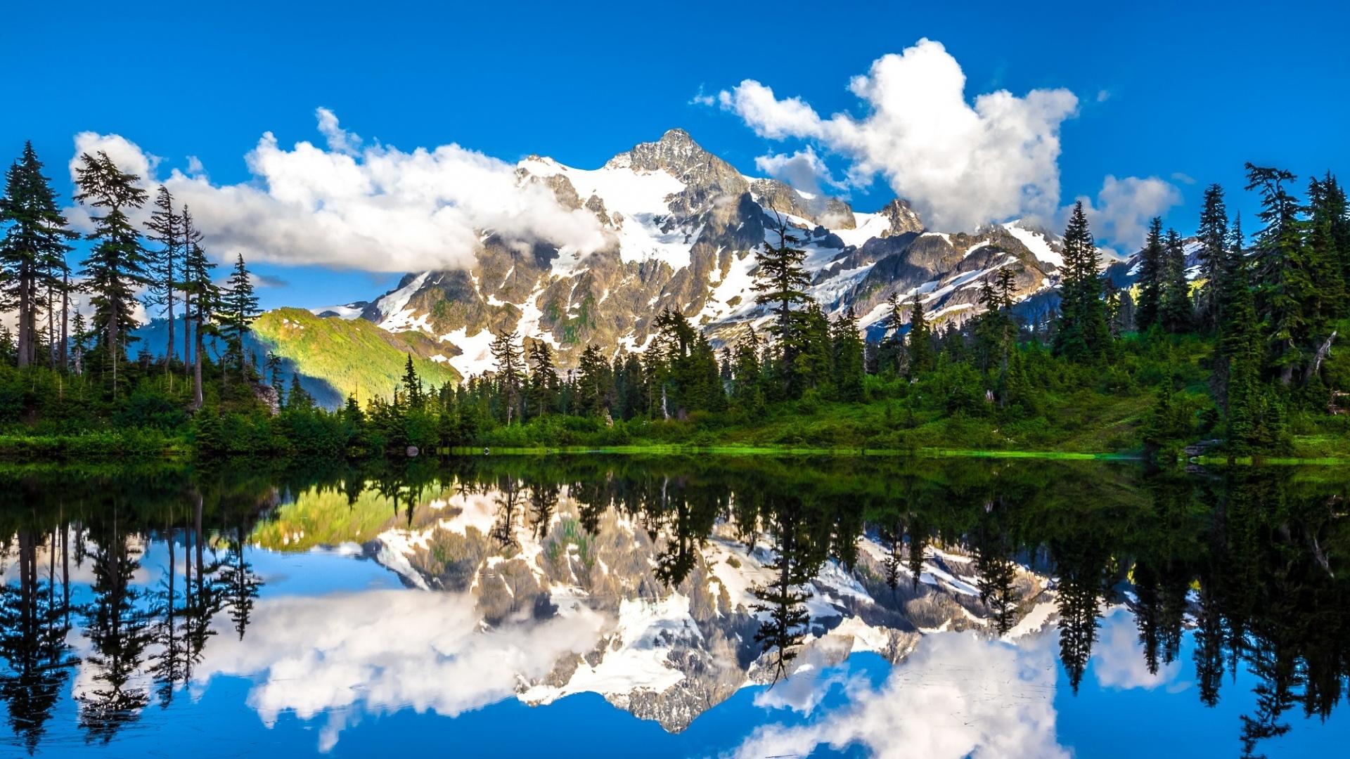 Background đơn giản với cảnh núi sông