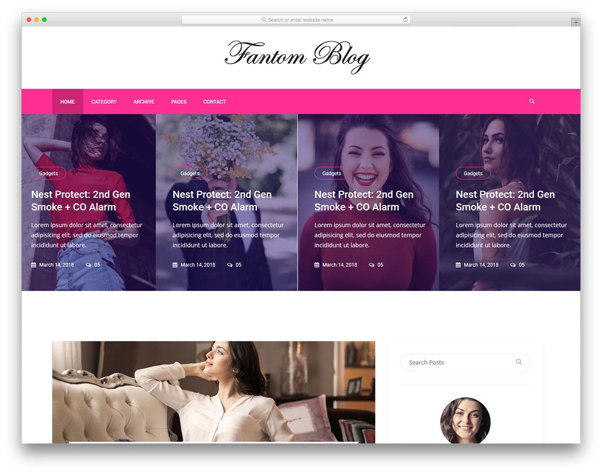 Blogspot theme đẹp Fantom