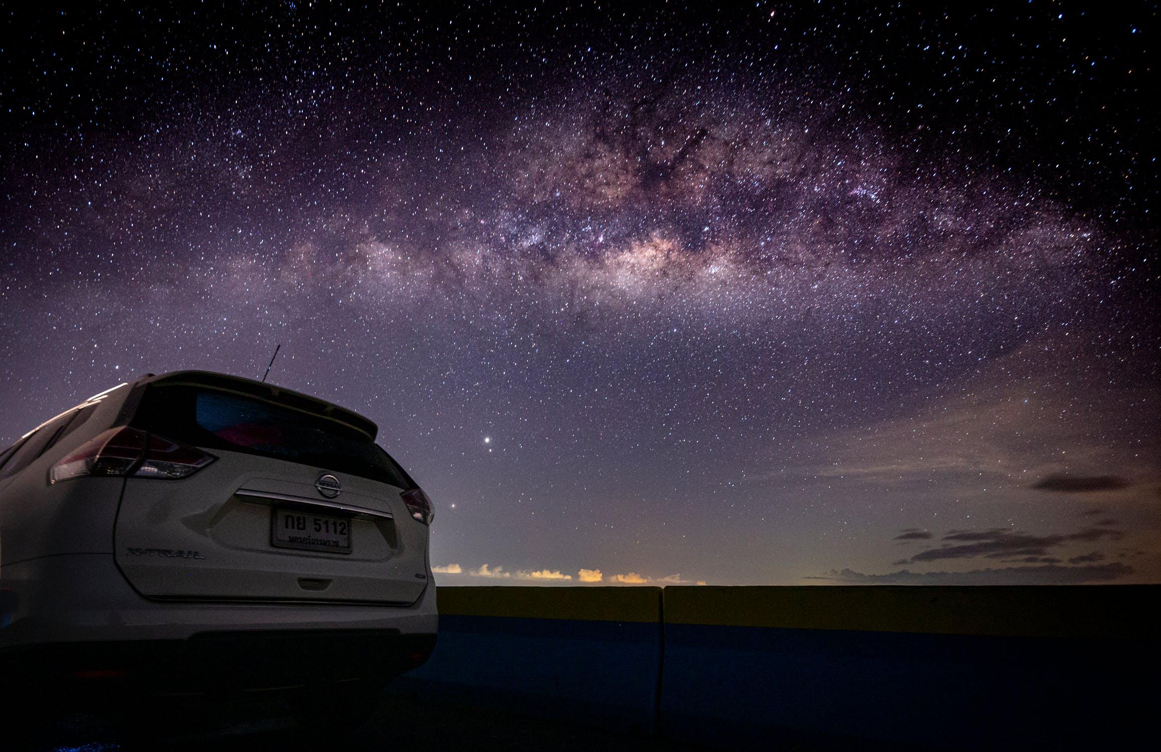 Bộ sưu tập ảnh nền 4k laptop với bầu trời đầy sao