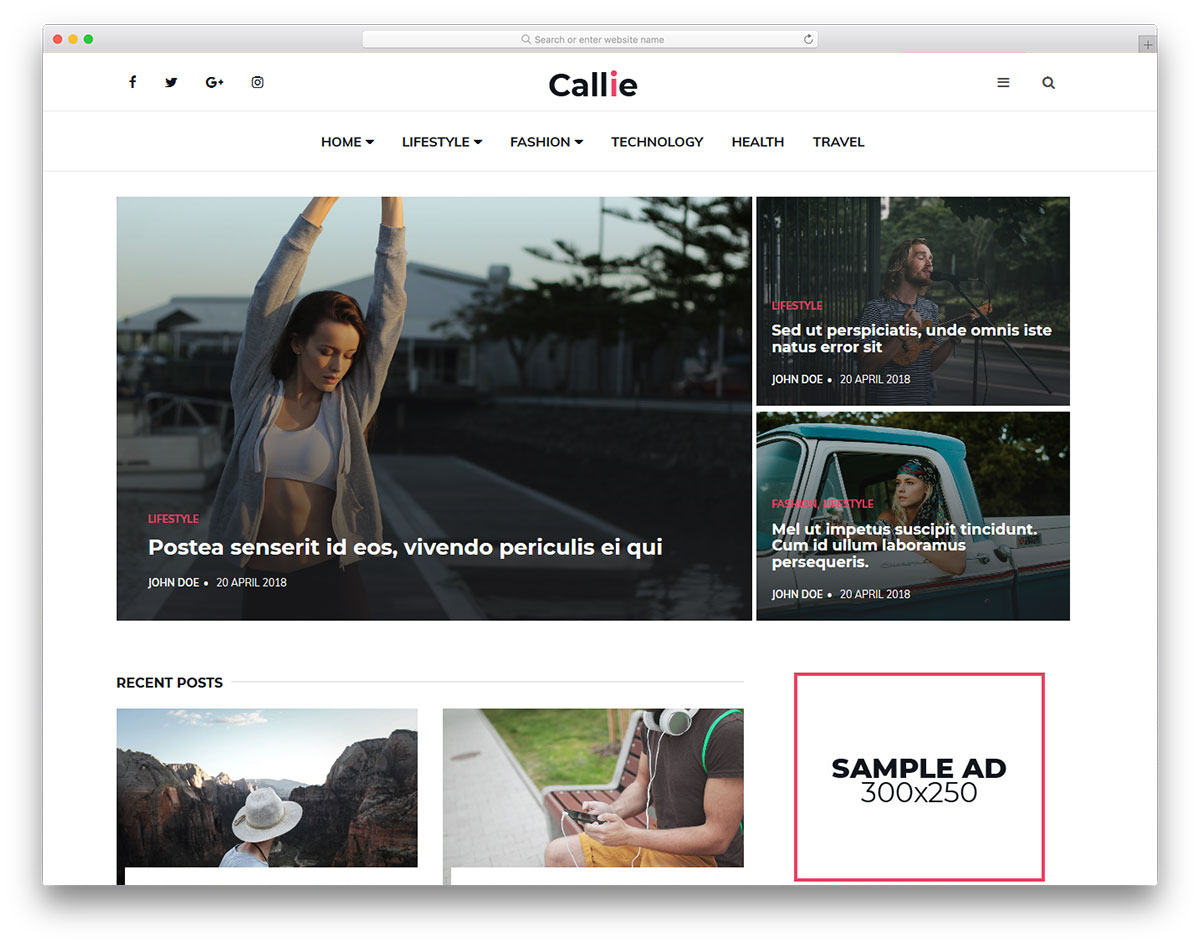 Callie template blogspot tin tức cực đẹp