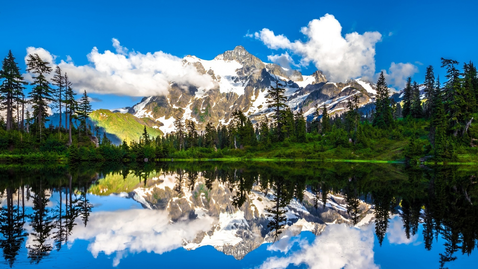 Hình nền 4k cho laptop tuyệt đẹp với hồ và núi