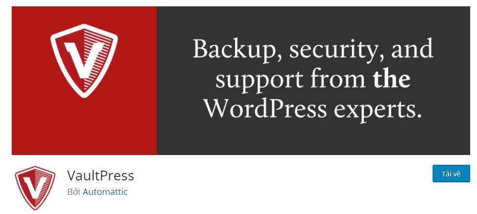 Plugin VaultPress (with Jetpack)