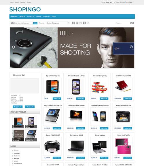 Shopingo template blogspot miễn phí 2020