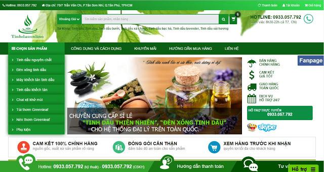 Template blogspot miễn phí - Tinh dầu online