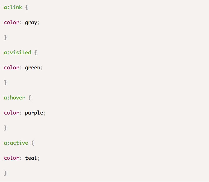 Thay đổi màu link với những đoạn css cơ bản