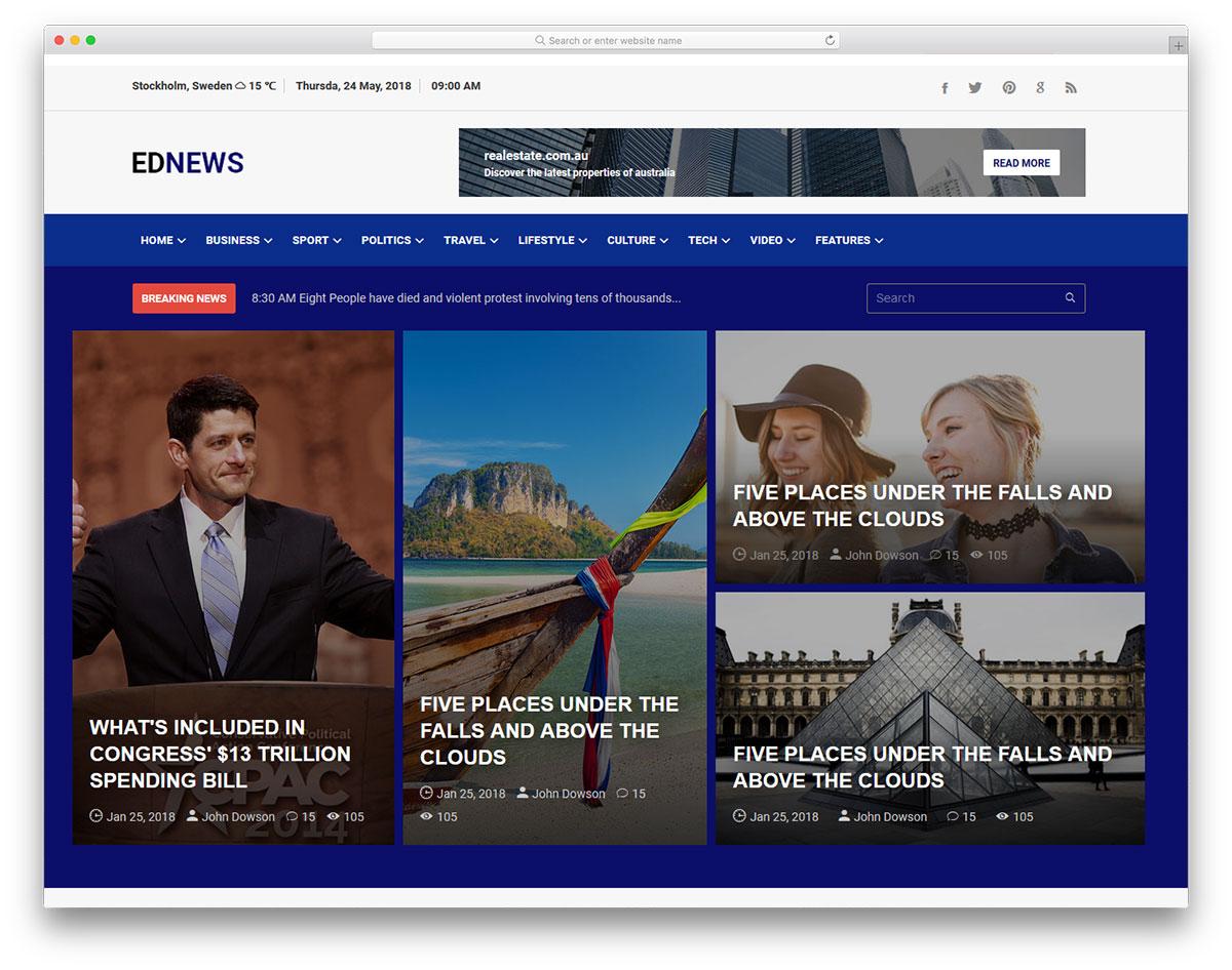 Theme Ednews độc đáo