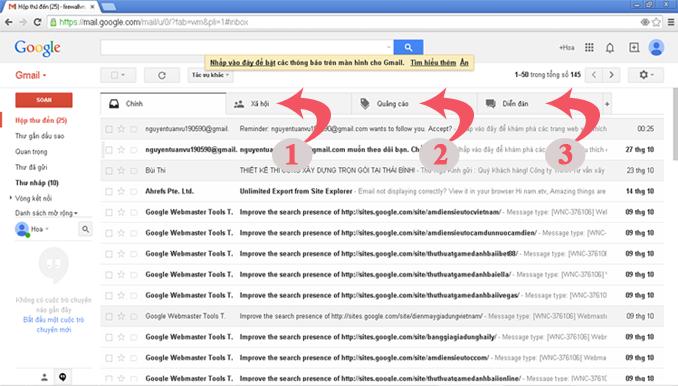 Facebook ko gửi mã xác nhận vào Inbox Gmail