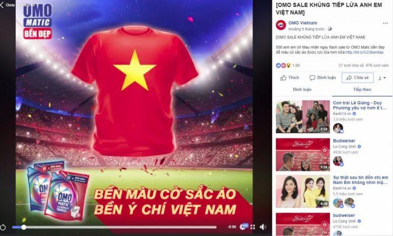 Mẫu quảng cáo theo trend bóng đá