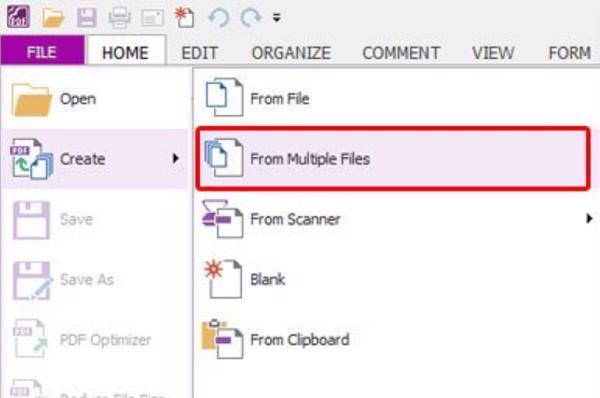 Nhập nhiều file pdf