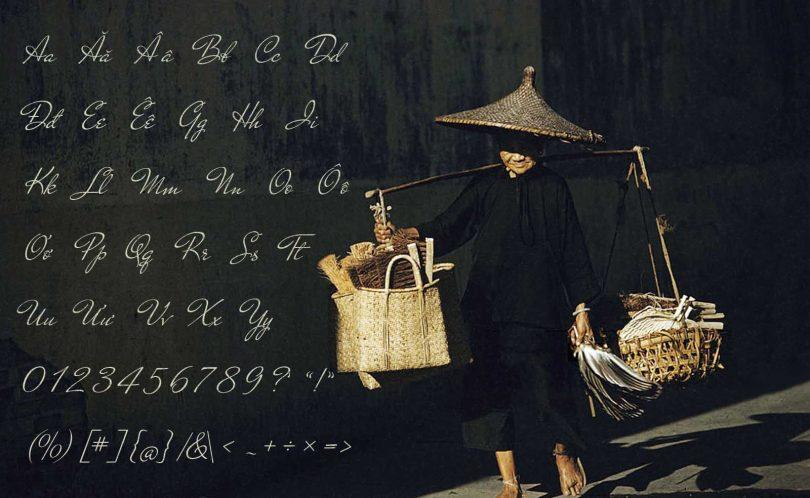 Phông chữ viết tay truyền thống