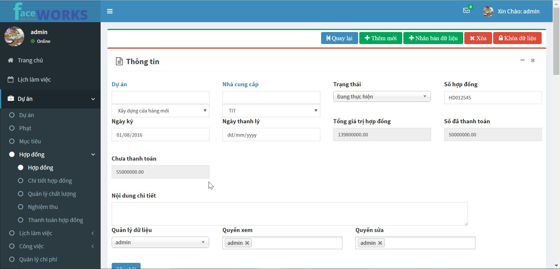 Facework - phần mềm quản lý dự án hiệu quả