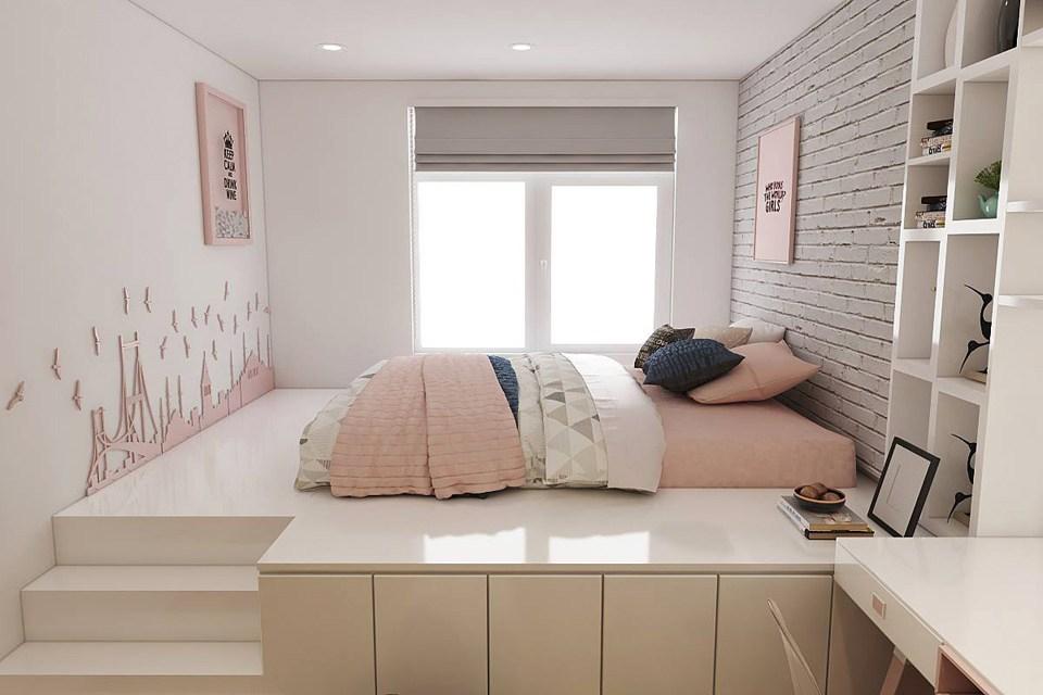 4 Thủ thuật trang trí phòng ngủ cho các phòng nhỏ mà vẫn hiện đại