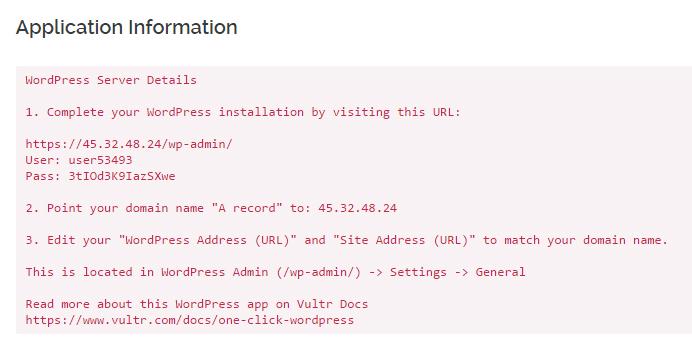 Cài đặt WordPress trên VPS Vultr bằng cách vào server