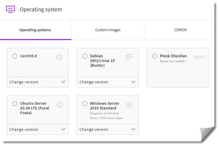 Chọn hệ điều hành phù hợp với trang web