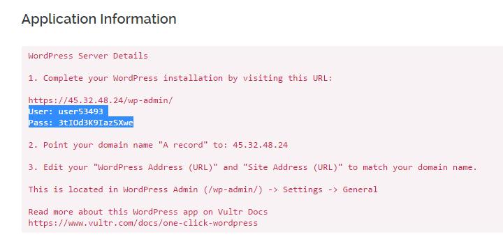 Copy tên đăng nhập và mật khẩu