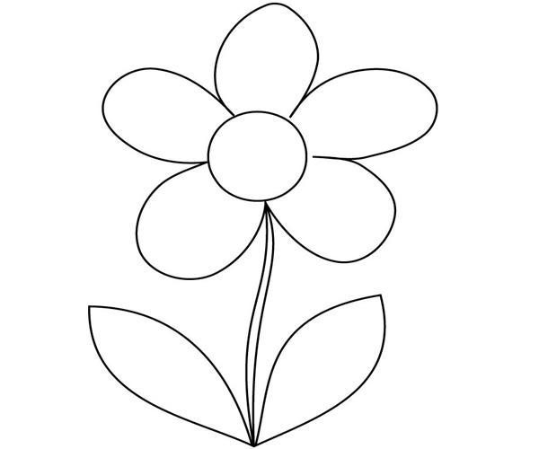 Hình ảnh bông hoa để bé tô màu
