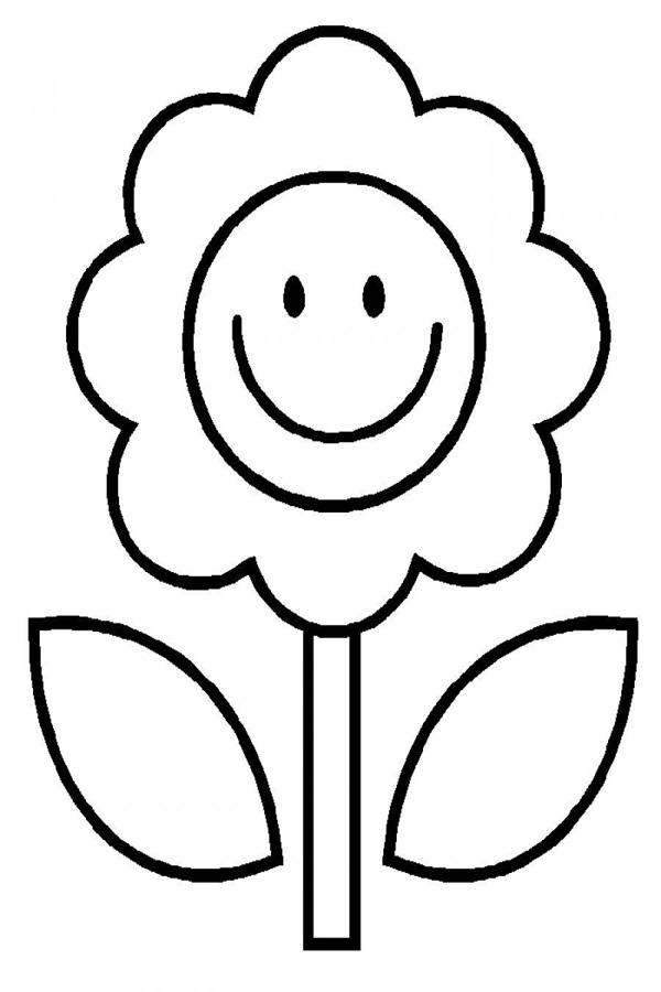 Tô hình hoa mặt trời cho bé