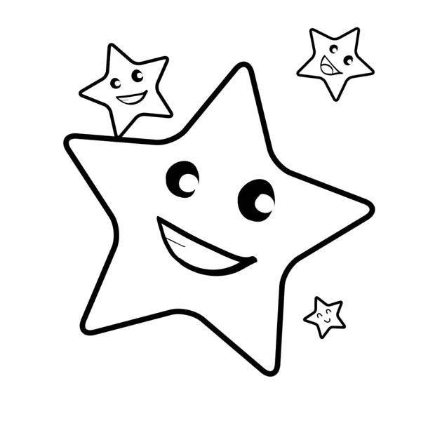 Tranh hoạt hình ngôi sao cho bé tô màu