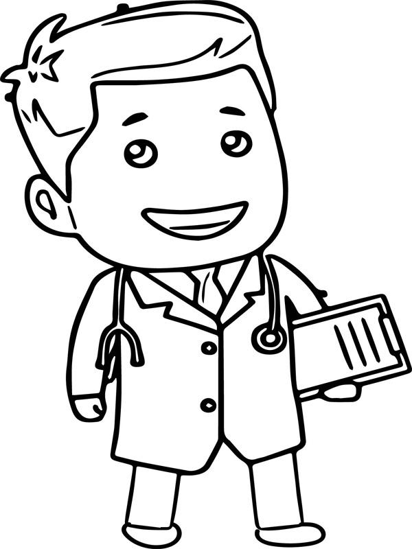 Tranh tô màu bác sĩ