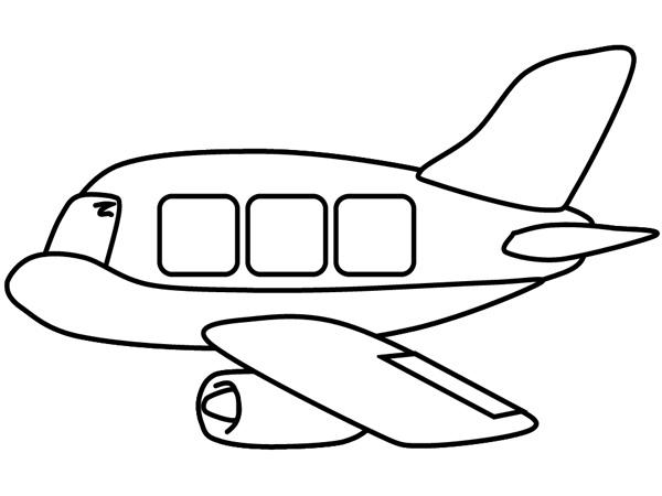 Tranh tô màu cho bé 3 tuổi về chiếc máy bay
