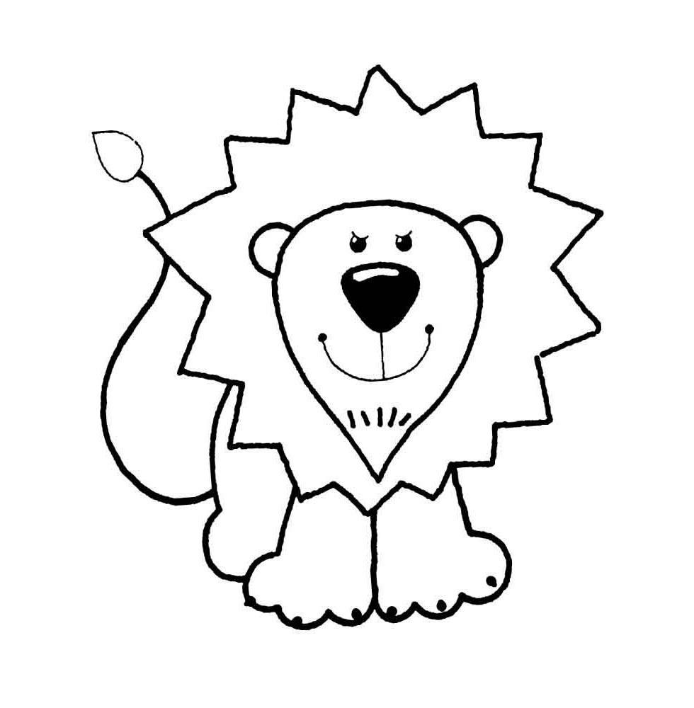 Tranh tô màu cho bé nhận diện chú sư tử