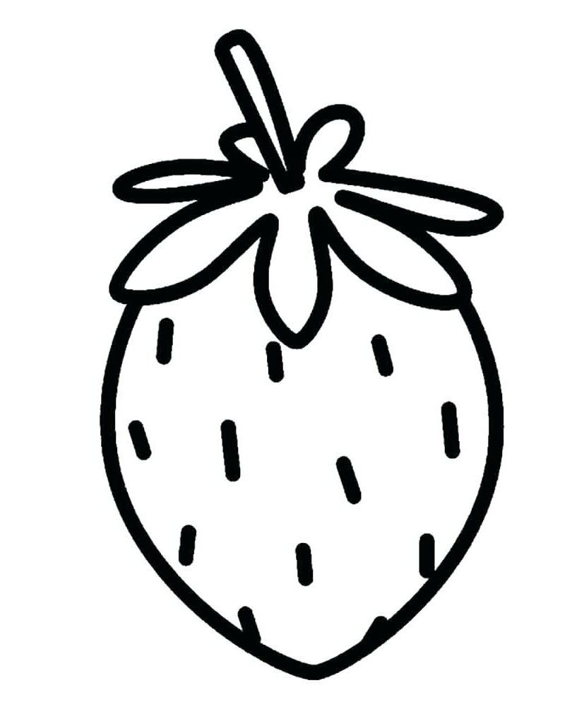 Tranh tô màu trái dâu