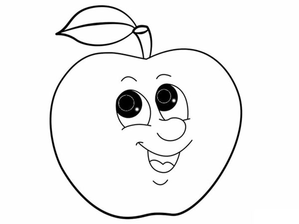 Tranh vẽ cho bé 3 tuổi hình trái táo