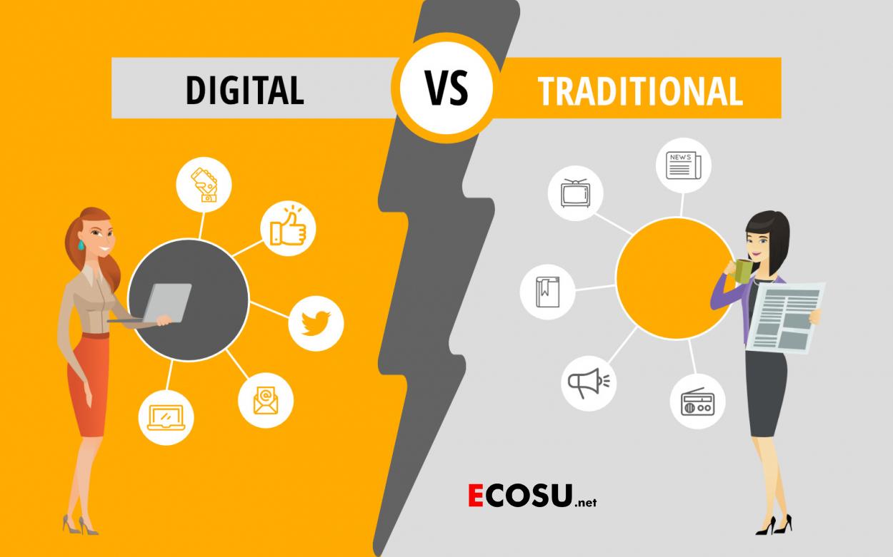 Digital Marketing có những kênh nào và có gì khác với Marketing truyền thống?